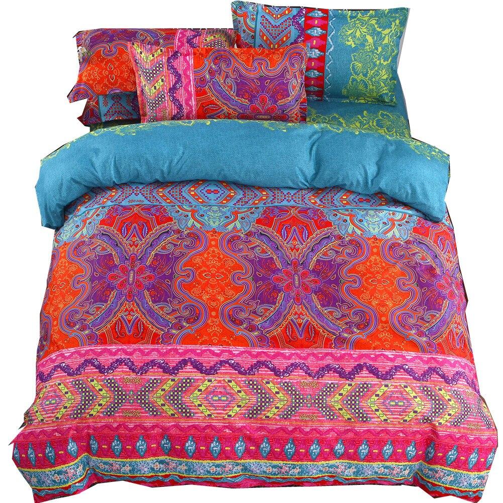 3D Bohemian Bedding Sets Boho Printed Mandala Duvet Cover Set With Pillowcase Bedlinen Home Textile