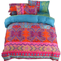 3D Bohemian Bedding Sets Boho Printed Mandala Duvet Cover Set With Pillowcase Bedlinen Home Textile