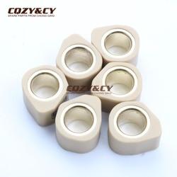 6 pc conjunto de rolos de polígono sliders 20x15mm 15g para suzuki burgman 125 K2-K6 K7-L1 uc epicuro x-k1 125 ux dezesseis k8 150