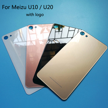 NEW For meizu U10 Case Back Glass Rear Door Housing Replacement for meizu U20 Battery Cover With STICKER Adhesive Fundas