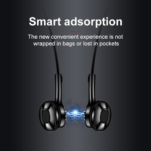 Image 3 - جديد سماعة لاسلكية تعمل بالبلوتوث سماعات المغناطيسي ستيريو سماعة رياضية IPX7 مقاوم للماء اللاسلكية سماعات مع ميكروفون للهواتف الذكية