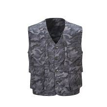 2018 Spring and summer new models vest men multi-pocket camouflage leisure photography