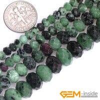 Rubis naturais Zoisite Pedra de Gema Pedra Semi Preciosas Lapidadas Rondelle Spacer Beads DIY Bead Para Fazer Jóias Strand 15 Polegada