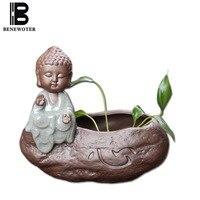 BENEWOTER Buddy Mnich Donice Ogrodowe donice Ceramiczne Yixing Kreatywny Soczyste Roślin Hydroponicznych Doniczka Garnek DIY Zakka