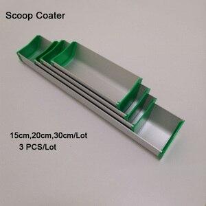 Image 1 - Бесплатная доставка 15 см/20 см/30 см Алюминиевая эмульсия совок Coater 3 шт./партия