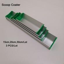 จัดส่งฟรี 15 ซม./20 ซม./30 ซม. อลูมิเนียม Emulsion Scoop Coater 3 ชิ้น/ล็อต