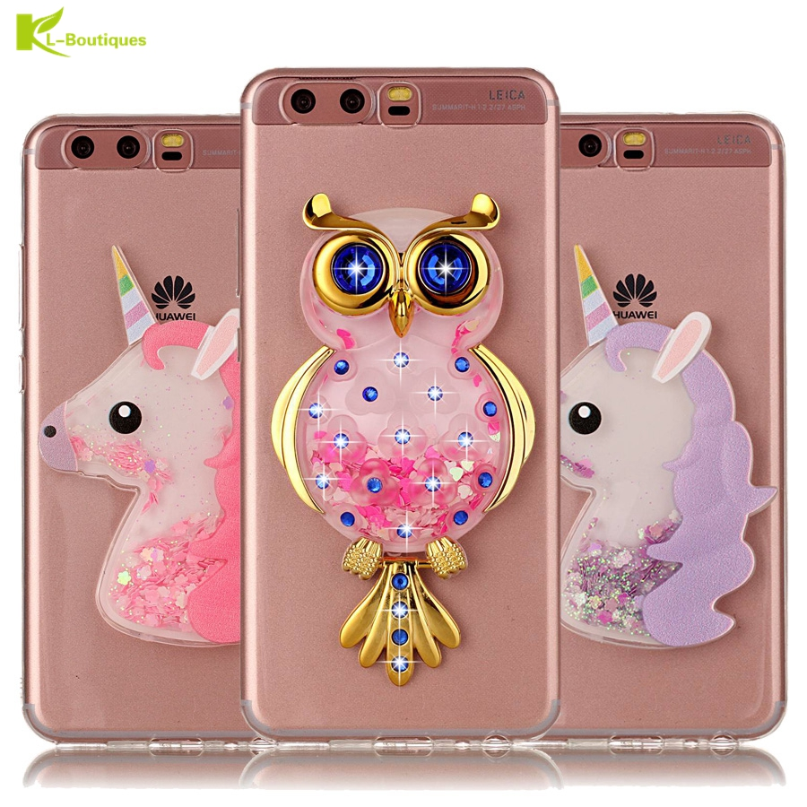 Unicorn Glitter Liquid Case sFor Coque Huawei P10 Lite Cover Dynamic Phone Cases for Huawei P10 Plus P8 P9 Lite Y3 Y5 Y6 II 2017