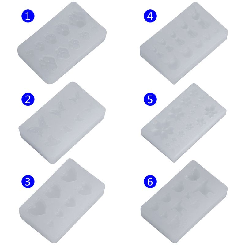 Silicone Mold DIY Crystal Jewelry Making Tool Nail Beauty Cute Bear DIY Clear Epoxy Resin Molds For Jewelry