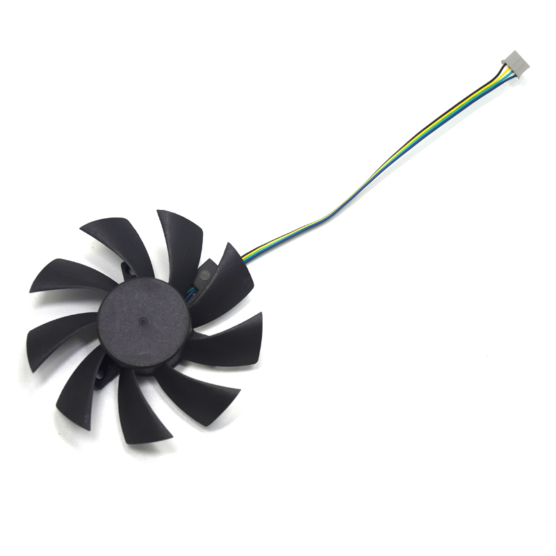 New 85mm T129215SU 4Pin Two Ball-Bearing Replace For MSI Gigabyte GTX 1060 RX 480 460 570 580 R9 290X RX 550 Card Cooler Fan