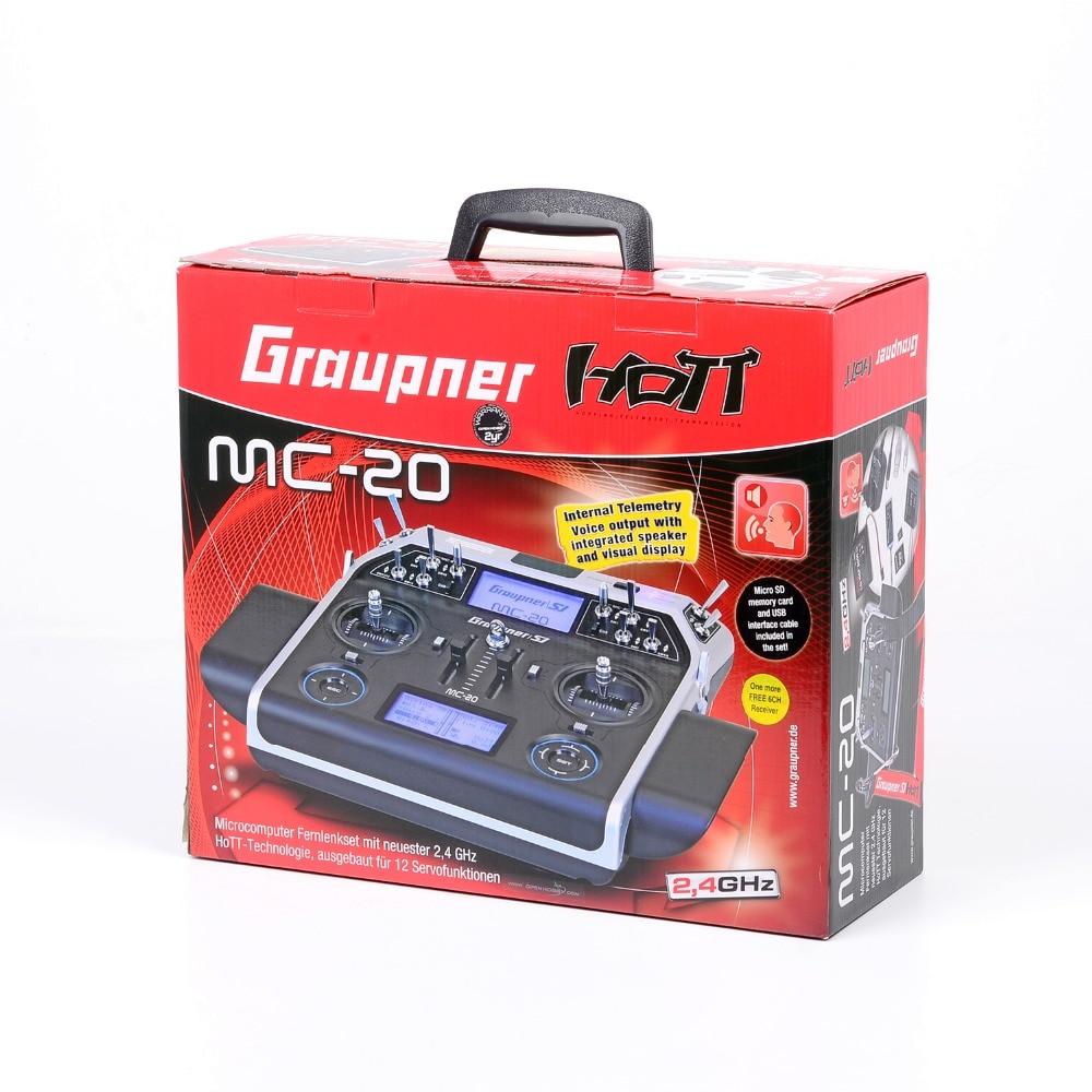 Graupner mc-20 12 Channel 2.4GHz HoTT Transmitter Tray Radio With GR-24L GR-12L Receiver By DHL graupner des 708 bb mg
