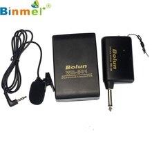 Factory Price Binmer New Wireless FM Transmitter mini Microphone Receiver Lavalier Lapel Clip Mic System AU4 Drop Shipping