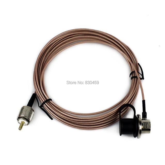 Nueva Pink NAGOYA RC-316 Cubierta RG-316 Cable de Extensión de 5 Metro para Walkie Talkie Antena Móvil