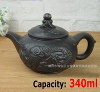 Factory Direct Wholesale Daxiang Yunlong Ore Pot Teapot Tea Red Teapot Teapot Pu Er Tea Large