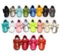 20 Colors Genuine Leather Baby Fringe First Walkers Lace-up Baby Moccasins Prewalkers Girls Boy Shoes Tenis Infantil Menina