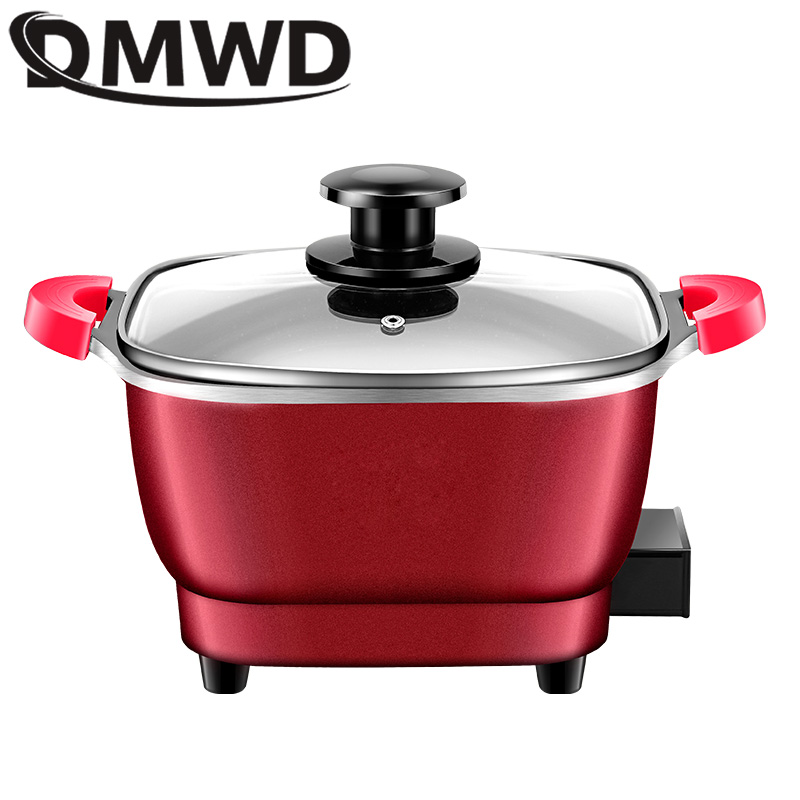 DMWD Electric Skillet with Non-Stick Coating and Five Gear Temperature Control 1