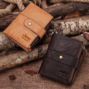 Image 2 - 2020 100% Genuine Leather Rfid Wallet Men Crazy Horse Wallets Coin Purse Short Male Money Bag Mini Walet High Quality Boys