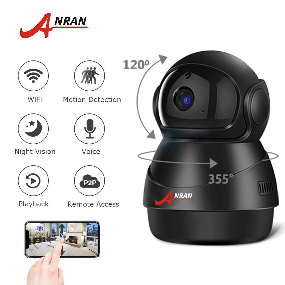 ANRAN 1080P HD IP Camera Wifi Two-Way Audio Video Camera Cloud Home Surveillance Night Vision Security Camera Baby Monitor