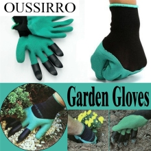 1 pair new Gardening Gloves for garden Digging Planting with 4 ABS Plastic Claws Jun13 Professional Factory price Drop Shipping