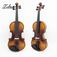 Full Size 4 4 Natural Acoustic Fiddle Violin With Violin Case Cover Bow Parts Set For