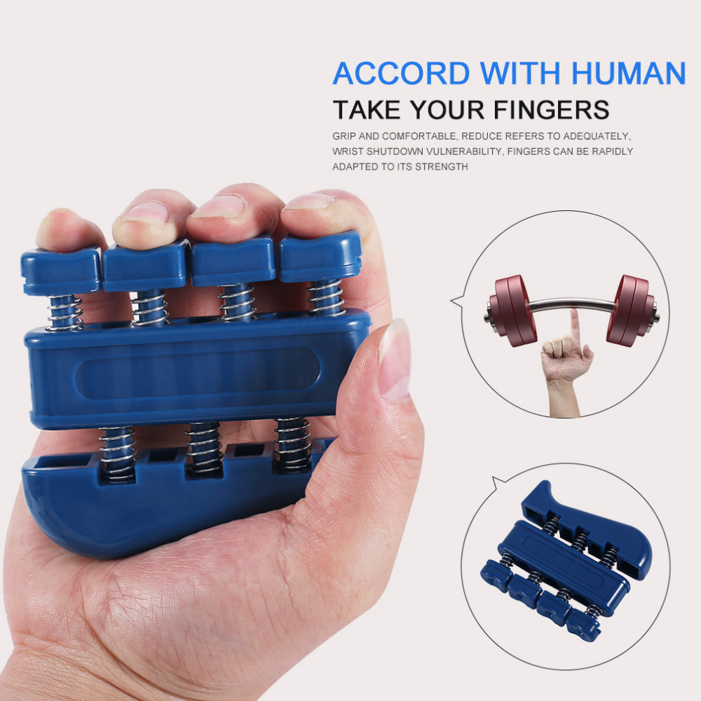 TSAI Adult Fingers Self Strength Exerciser Heavy Wrist Tension Extend Hand Master Trainning Fitness Equipment Blue drop shipping