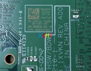 Image 5 - Für Dell Inspiron 14 3458 6 KTJF 06 KTJF CN 06KTJF 14216 1 1 XVKN i3 5005U N16V GM B1 GT920M Laptop Motherboard mainboard Getestet