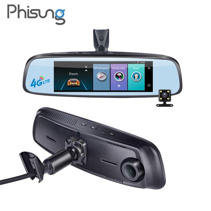 7.84 4G Special bracket Car Camera Mirror Android GPS DVR with two cameras WIFI dash cam ADAS Remote Video Recorder