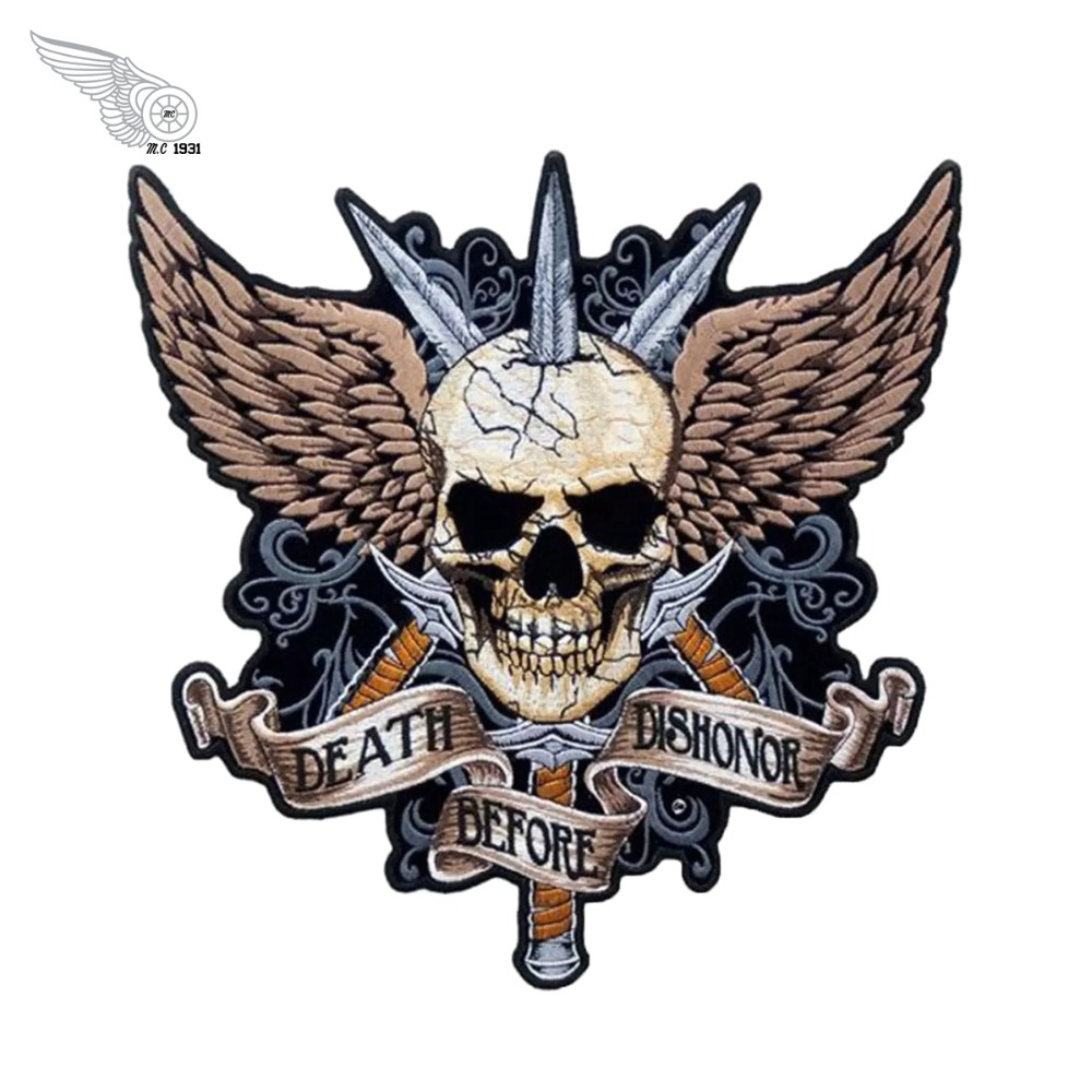 Death Before Dishonor  NEW EMBROIDERY SEW//IRON ON Patch