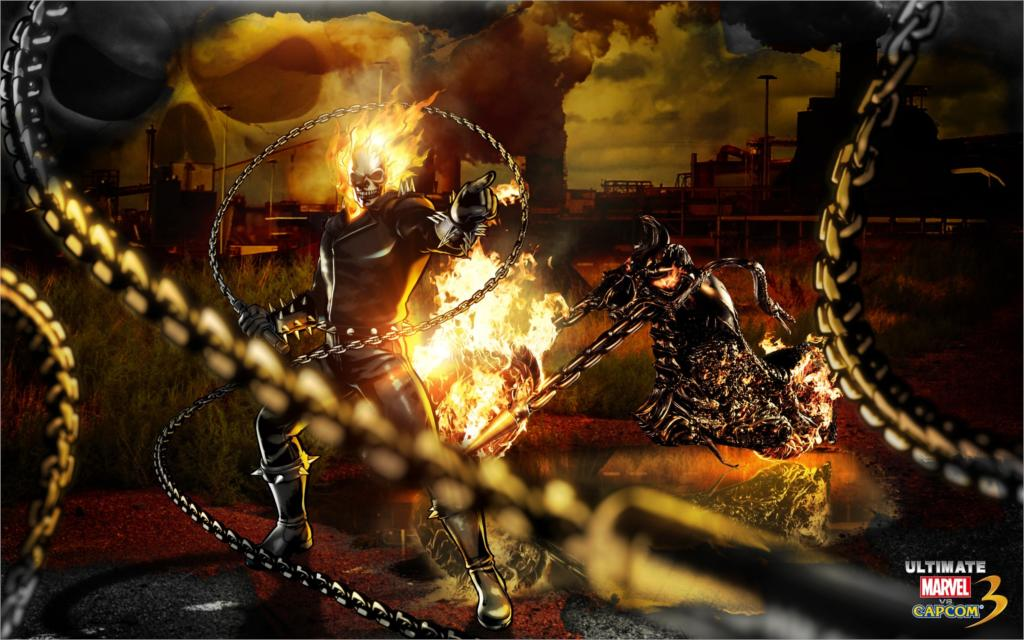 Living Room Home Wall Decoration Fabric Poster The Most Exciting Game Ghost Rider Marvel Vs