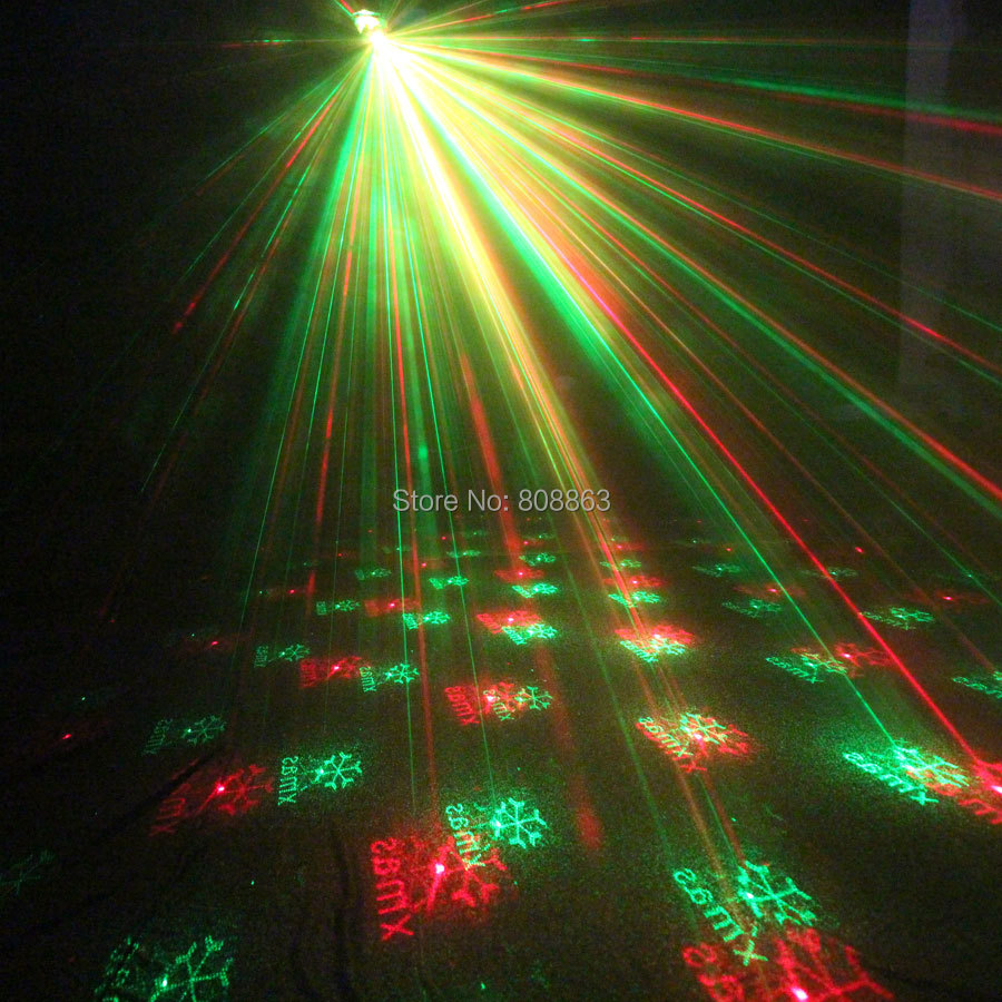Mini R&G Remote 6 Christmas Patterns Laser Projector Club Bar Coffee Shop Dance Disco Party Xmas DJ Effect Light Show+ Tripod R6