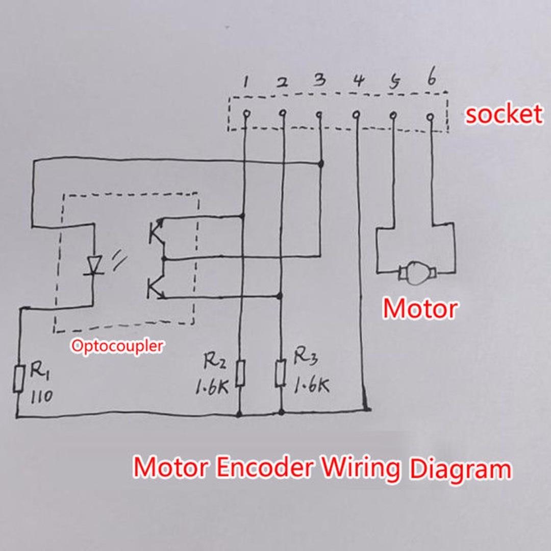 dc 6v 12v 7800rpm metal speed encoder tachometer motor 130 ab phase motor for diy [ 1080 x 1080 Pixel ]