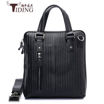 цена на men business genuine leather briefcase bags 2018 Business man black  Laptop Tote vintage Travel Bags Male Casual Handbags
