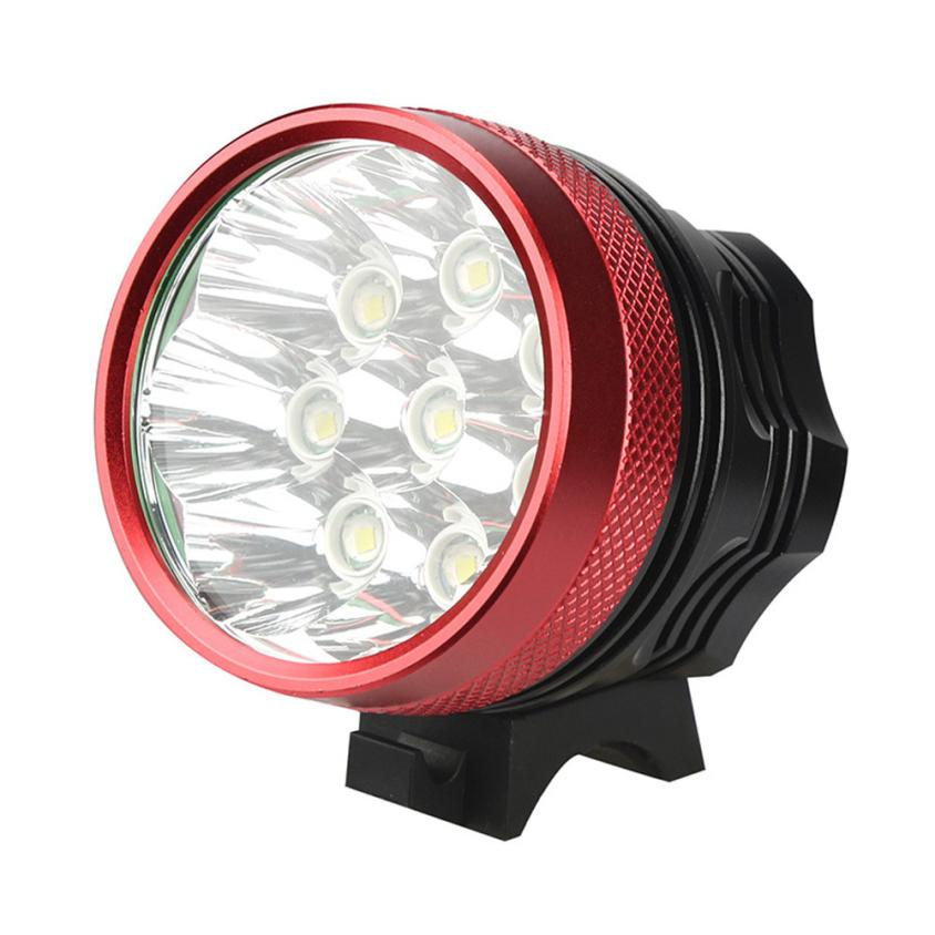 2017 NEW bike light 18000 Lm 8x T6 LED 3 Modes Bicycle Lamp Bike Light Headlight Cycling Torch september22