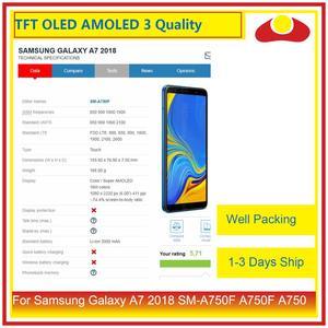 Image 2 - Оригинальный жк дисплей с сенсорным экраном и дигитайзером в сборе для Samsung Galaxy A7 2018 SM A750F A750F A750