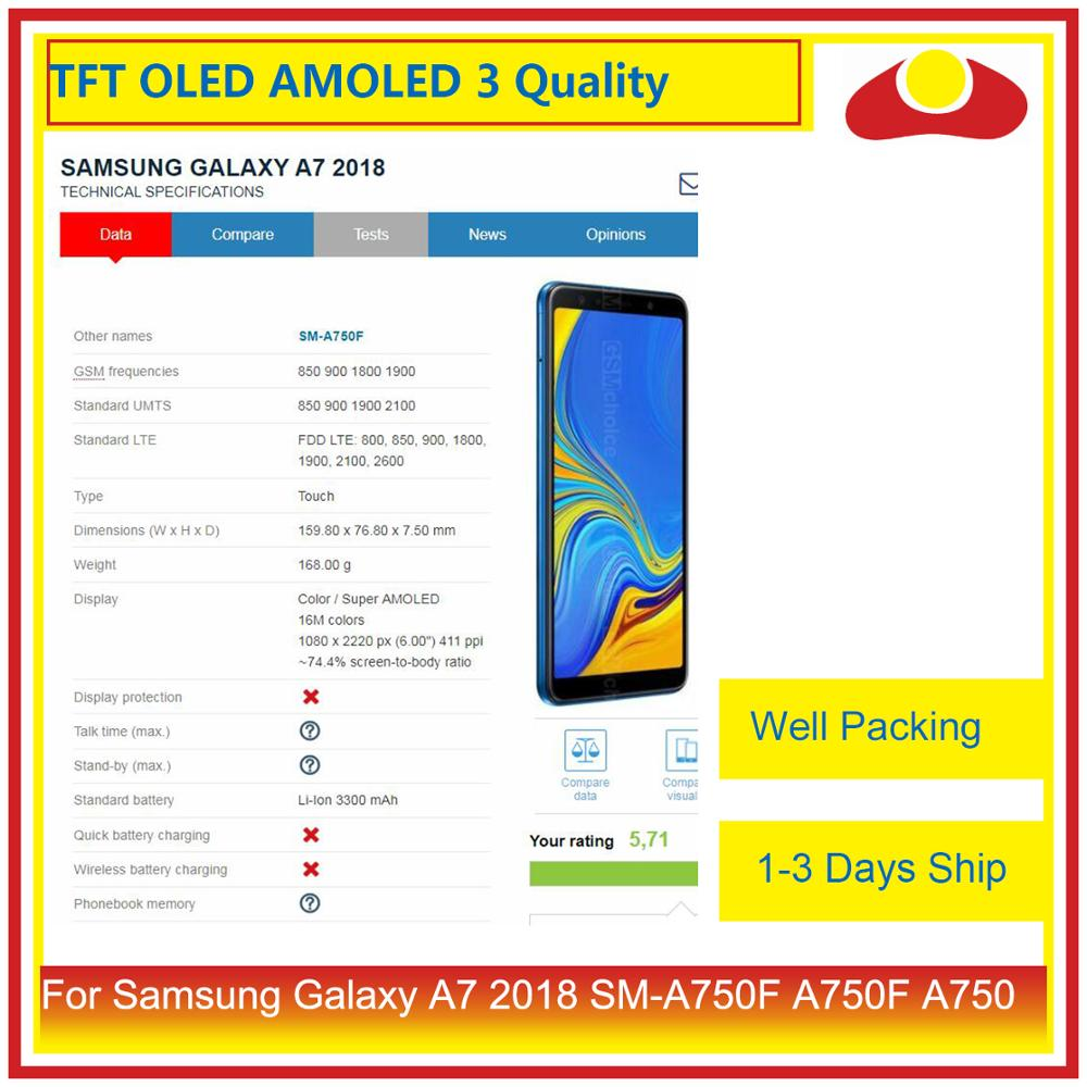Image 2 - ORIGINAL For Samsung Galaxy A7 2018 SM A750F A750F A750 LCD Display With Touch Screen Digitizer Panel Monitor Assembly Complete-in Mobile Phone LCD Screens from Cellphones & Telecommunications