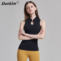 Yoga Tops Women Sexy Gym Sportswear Sport Vest Fitness Top woman clothing Sleeveless Running shirt Quick Dry black Yoga Tank Top