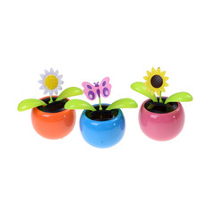 fc72e2509 Solar Powered Flip Flap Dancing Flower For Car Decor Automatic Dancing  Flower Toy Gift High Quality