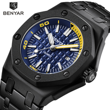 New BENYAR Fashion Men Watches Male Top Brand Luxury Quartz