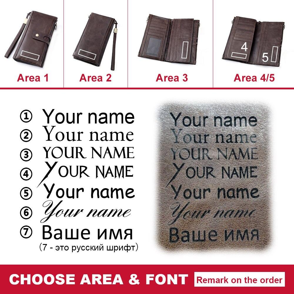 KAVIS Genuine Leather Women Wallet Male Clutch Coin Purse Walet Long Portomonee Rfid PORTFOLIO Clamp For Money Handy Perse