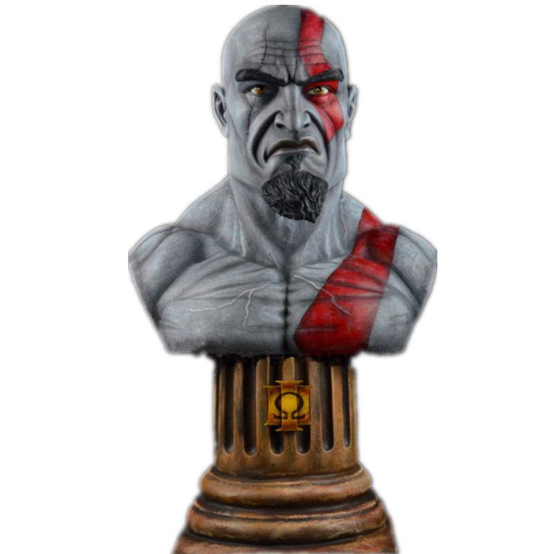 Kratos Statue The son of Zeus 1:1 (LIFE SIZE) Bust God of War Half-Length Photo Or Portrait Resin Boyfrien birthday gift kratos statue the son of zeus 1 1 life size bust god of war half length photo or portrait resin collectible model toy boxed
