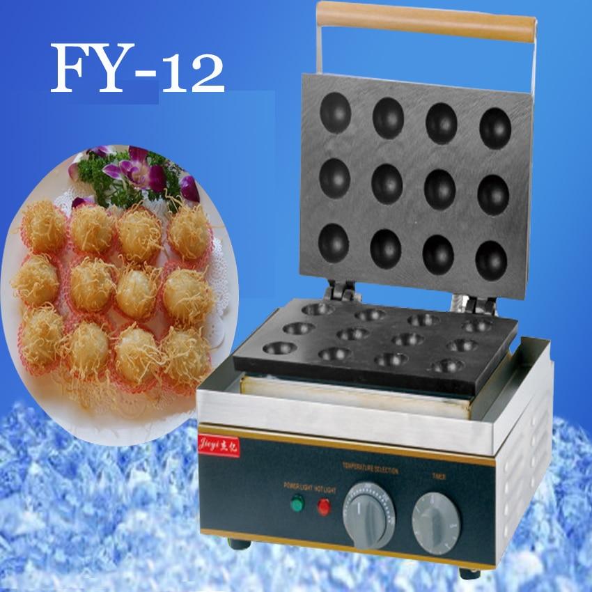 1pc Fy 12 Electric Fish Ball Maker Takoyaki Maker