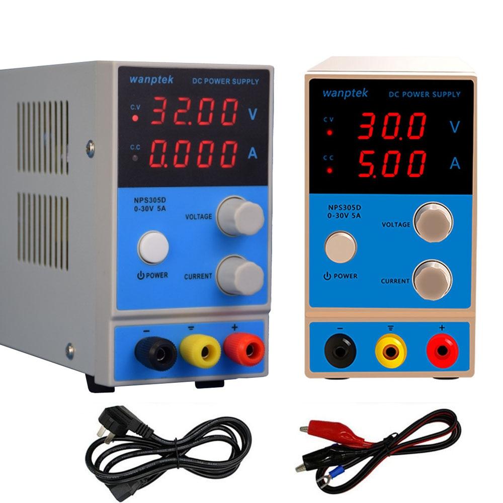 Mini DC Power Supply 30V 5A NPS305D Voltage Regulator Adjustable Digital Display Laboratory Switching Test Power Supply