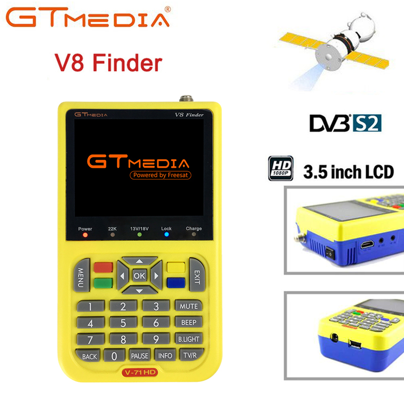 все цены на GTMEDIA Freesat Digital Satellite Finder Meter V8 Finder HD DVB-S2 FTA LNB Signal Pointer Satellite TV Receiver Tool For SatDish онлайн