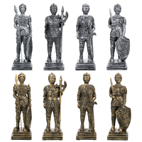 9x9x29cm Rome Soldier Warrior Statue Collection Decoration Gifts Collection of Static Military figures Model for Children Gifts statue