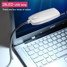 1Pcs New Arrival Ultra Bright Flexible LED USB Book light reading lamp 28LEDs 4 Colors for Laptop Notebook PC Computer