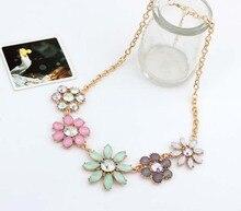 2015 Factory Price Necklaces Za Necklace Pendants Hot Colar Flower Long Jewelry Woman Maxi Necklace NJ014