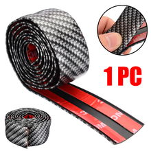 Mayitr 1 Roll Carbon Fiber Style Rubber Car Door Sill Protector Edge Guard Strip 1M*3CM DIY