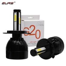 EURS G20 Auto 12v 24v H7 Led H4 Bulb 40W 6000K 8000lm Led H11 9005 9006 9007 H13 LED Bulbs Car Headlight eurs mini6 2pcs car headlight bulbs led h1 h4 led h7 40w 12v 24v auto bulb led h3 h7 h10 car headlight bulbs 6000k