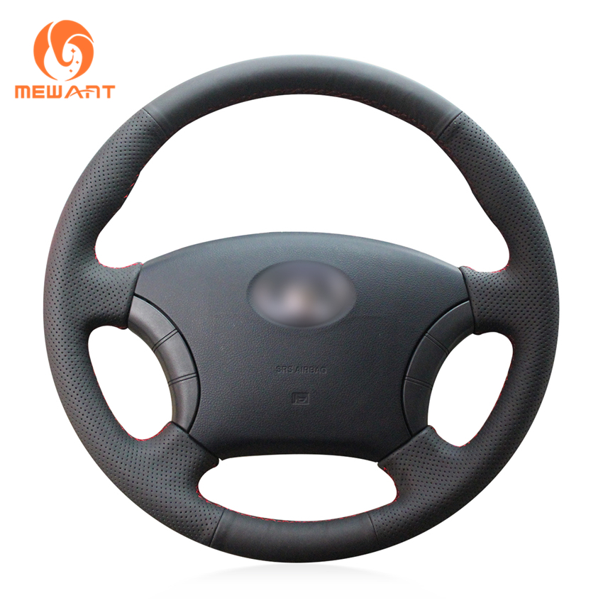 MEWANT Black Genuine Leather Car Steering Wheel Cover for Great Wall Haval Hover H3 H5 Wingle 3 Wingle 5