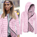 2017 Most popular Jacket Vest VOT7 vestitiy  Women Winter Hooded Coat Zipper Jacket Jua 1 Happy new year