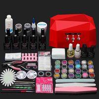 New 36W/48W UV Nail Lamp+ 10 Colors Nail Gel Polish Base Gel Top Coat With Remover Nail File Tools Kit Nail Art Manicure Set